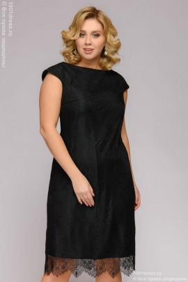 c054e3e7a82 Платье черное гипюровое с короткими рукавами